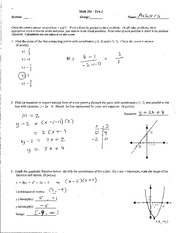 (sample) Exam #2 (with solutions)