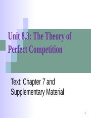 8.3. Perfect Competition