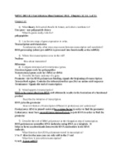 BIO 111 Test 6 Review Sheet Summer 2011 (Autosaved)