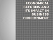 Indian economical reforms and its impact in business environment