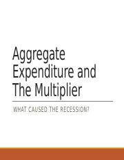 Aggregate Expenditure and The Multiplier-f16