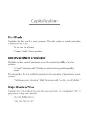 Capitalization new