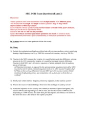 Exam 2 old exam questions