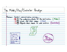Lecture Notes CSE132 2008-01-22 The Model-View-Controller Paradigm