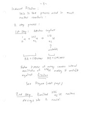 ENEL 673 Induced Fission Notes
