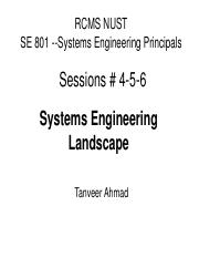 B - Session 4-5-6 Systems Engineering Landscape