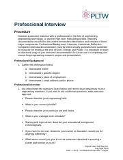 1A - Professional Interview