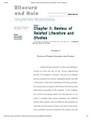 related studies about latecomers