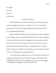 alex pappas wireless communications essay