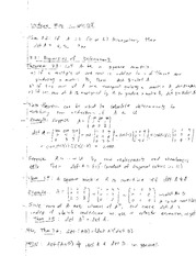 Lecture 14 on Properties of Determinants, Square Matrices