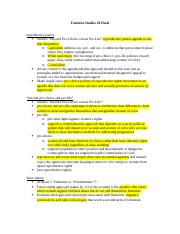 Feminist Studies 20 Final Exam Study Guide.docx