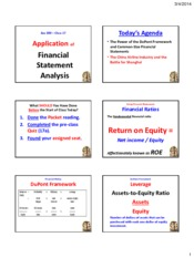 Powerpoint - Financial Statement Analysis