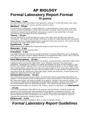ap lab report format