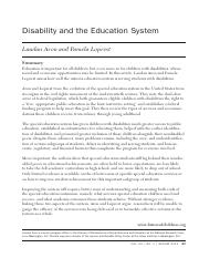 Disability and Education System.pdf