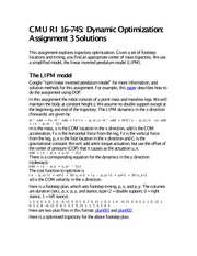 Assignment 3 Solutions