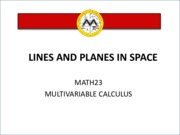 L4  Lines and Planes in Space