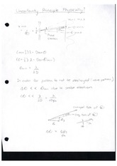 Class Note Uncertainty Principle