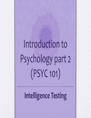 PSYC 101 - Lecture 6 - Intelligence.pdf