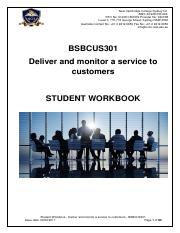 Student Workbook - Deliver and monitor a service to customers - BSBCUS301.pdf