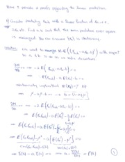 proofs of linear predictor