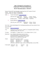 Schedule and Syllabus Fall 2015