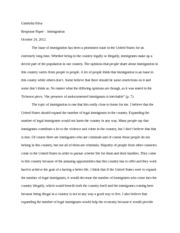 Response paper 4 - Immigration Policy