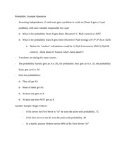 Probability Example Questions