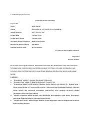306138355 Contoh Surat Perjanjian Asuransi 1 Doc 1 Contoh Perjanjian Asuransi Surat Perjanjian Asuransi Kepada Yth Nama Indah Hartat Alamat Sosromejan Course Hero
