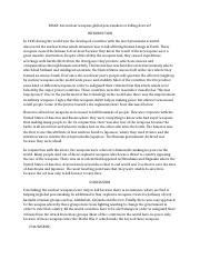 Nuclear weapons essay
