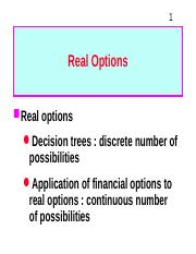 3. Real Options