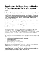 Intro to the HR Discipline of Organizational & Employee Development.pdf