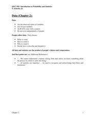 Notes for Chapter 2