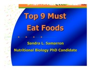 Lecture Top 9 Must Top 9 Must Eat Foods