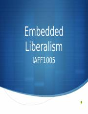 Intro to Embedded Liberalism