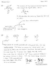 problem 1 solutions on Organic Reaction Mechanisms II