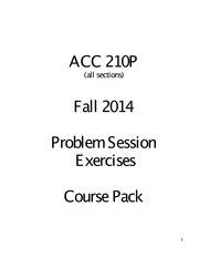 ACC210P Course pack