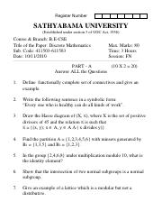 (www.entrance-exam.net)-Sathyabama University-B.E in CSE-5th Sem Discreet Mathematics Sample Paper 3