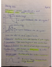 Chemistry 12 Notes