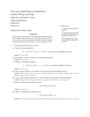 Problem Solutions-NumberTheoryProofs