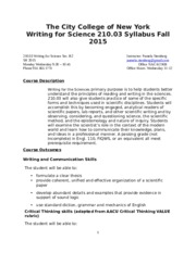 Writing For Science 21003 fall  2015 B2