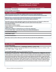 700067 Professional Health Competencies 2018.2 Annotated bibliography template v2.0.docx