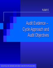 06. Audit Evidence - Cycle Approach & Audit Objectives_Update 2015.ppt