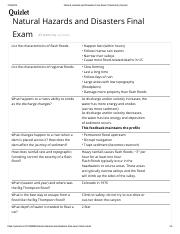 Natural Hazards and Disasters Final Exam Flashcards _ Quizlet