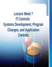 Lecture week 7