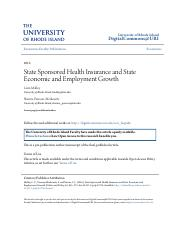 State Sponsored Health Insurance and State Economic and Employmen.pdf
