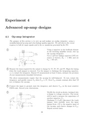 Advanced op-amp designs Lab 4 Experiment
