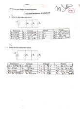 DCAC parallel resistor worksheet
