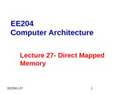 Lec27-Direct Mapped Cache