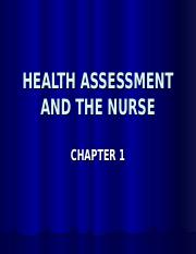Health Assessment Chapter 1