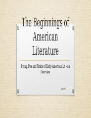 lecture_--_The_Beginnings_of_American_Literature_and_Irving_Bio.pptx